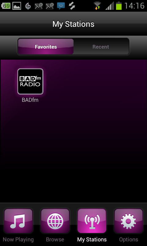 BADfm Radio on Nobex for Adndroid