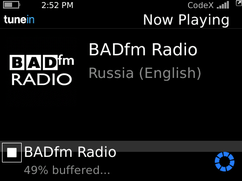 BADfm Radio on Nobex BB